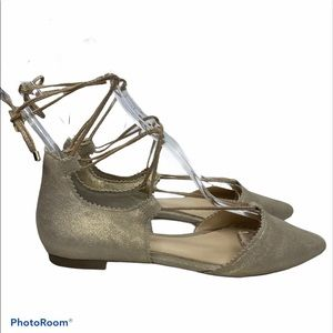 Jessica Simpson Pointed Toe Flat Ankle Wrap 7